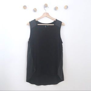 Cynthia Rowley Mix Media Black Tank | M